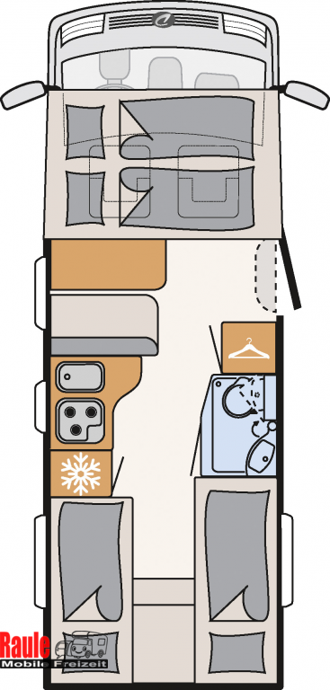 dethleffs trend t 6717 eb mit hubbett mieten. Black Bedroom Furniture Sets. Home Design Ideas