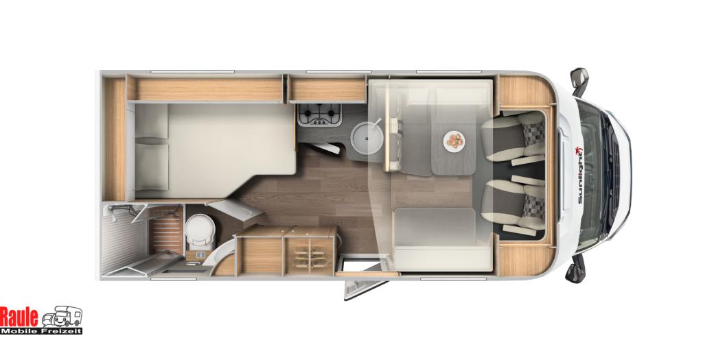 sunlight t 64 mit hubbett mieten. Black Bedroom Furniture Sets. Home Design Ideas